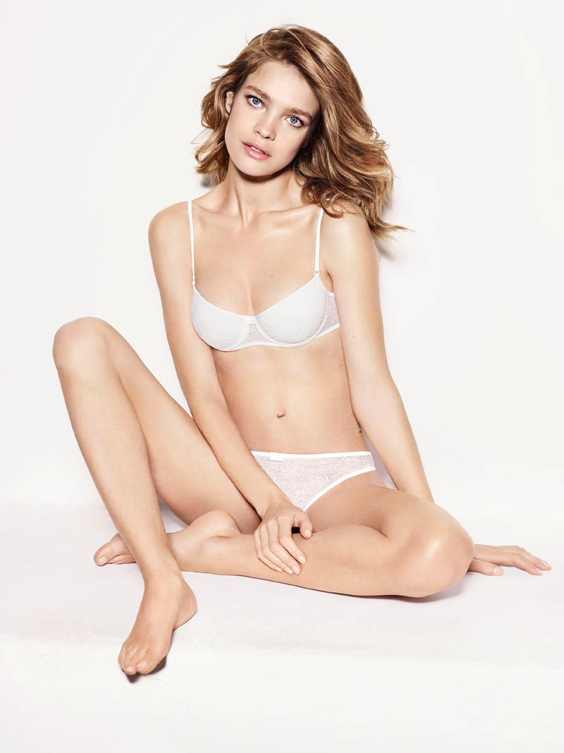 etam lingerie spring 2014 collection9 Bedroom Eyes: Natalia Vodianova Models Etams Spring 2014 Lingerie Line