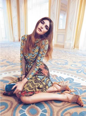 Eugenia Volodina Gets Glam in Bazaar Ukraine Shoot by Federica Putelli