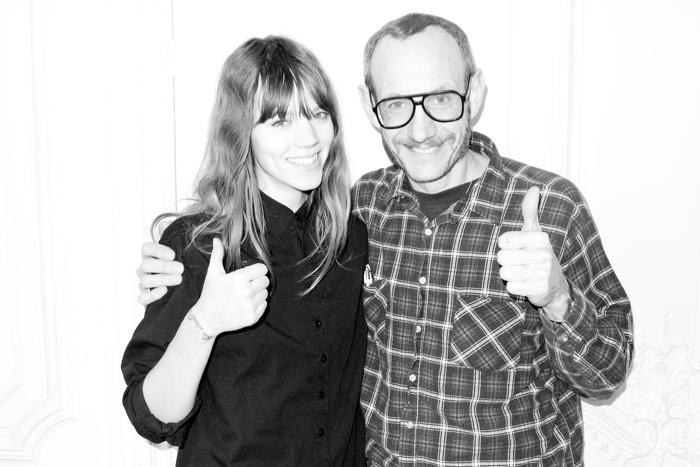 Freja Beha Erichsen Poses at Terry Richardson's Studio