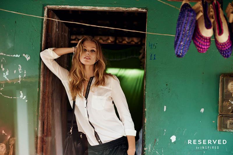 frida reserved spring 2014 campaign1 Frida Gustavsson Heads to Brazil for Reserveds Spring 2014 Campaign