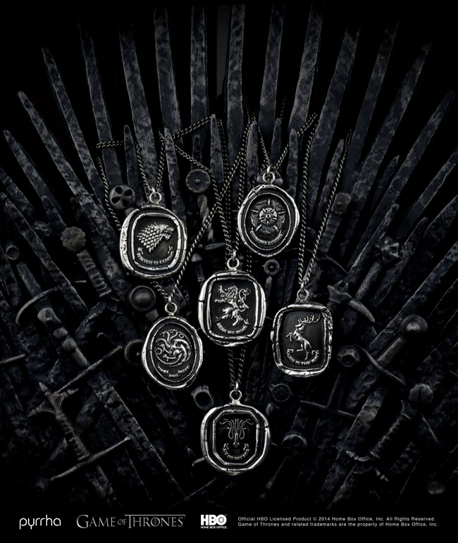 game of thrones pyrrha jewelry  Pyrrha & Game of Thrones Partner Up for Jewelry Line