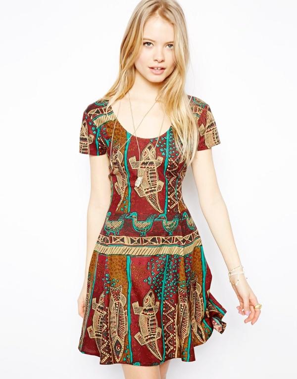 gekko-print-dress