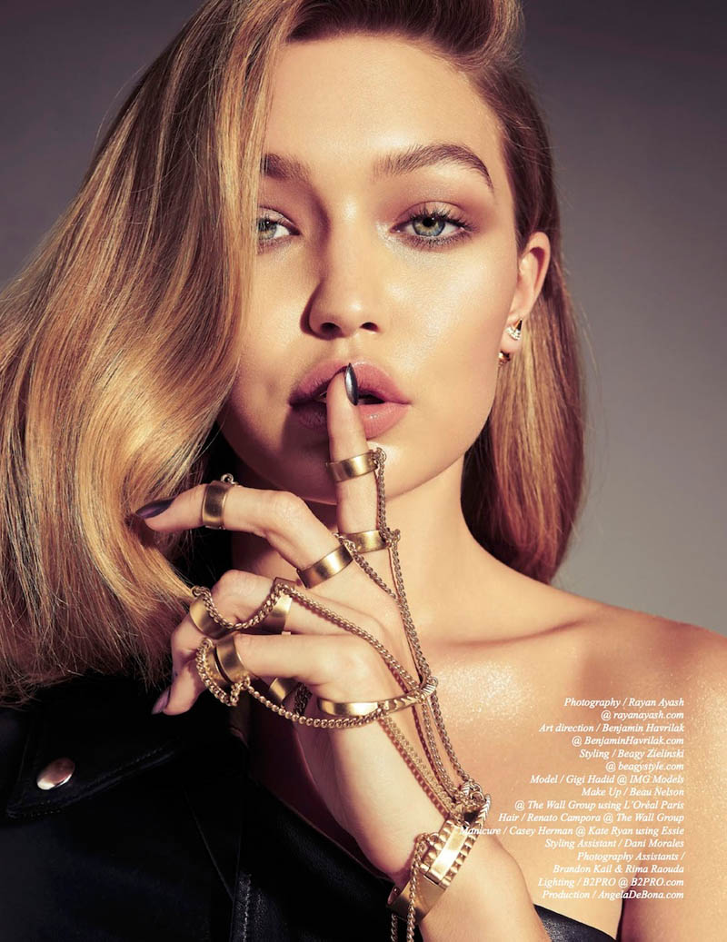 gigi hadid photo shoot7 Gigi Hadid Sizzles in Schon Shoot by Rayan Ayash