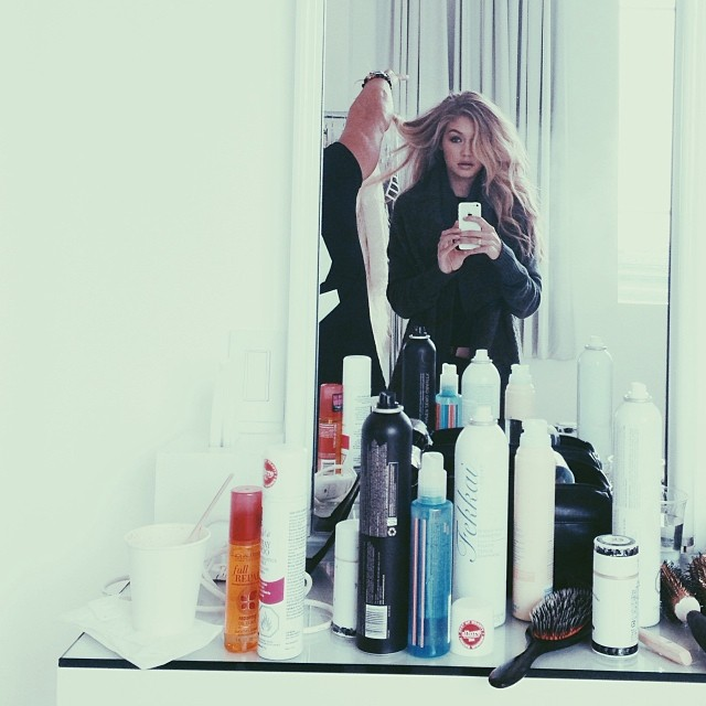 Gigi Hadid in New York City on upcoming job