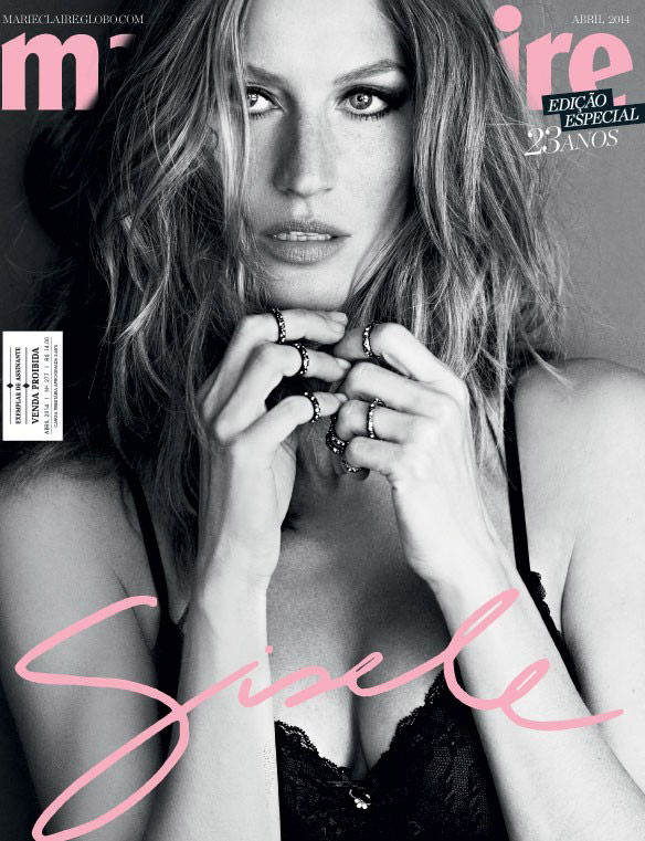 gisele bundchen marie claire brazil cover1 Gisele Bundchen in Lingerie for Marie Claire Brazil April 2014 Cover