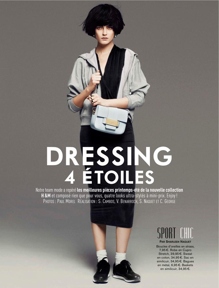 Marlena Szoka Models H&M Spring Looks for Glamour France by Paul Morel