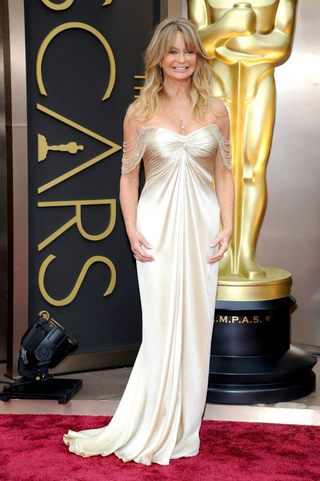 goldie hawn versace 2014 Oscars Red Carpet Looks