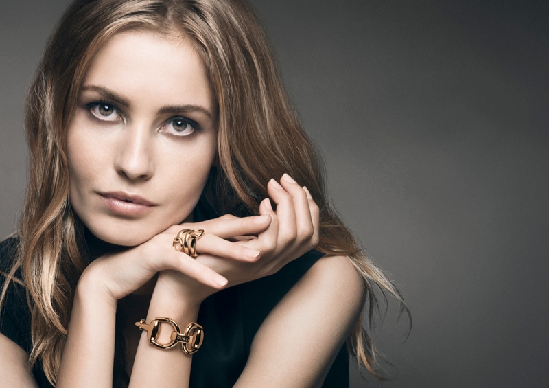 gucci 2014 watches jewelry1 Nadja Bender Fronts Gucci 2014 Watches & Jewelry Campaign