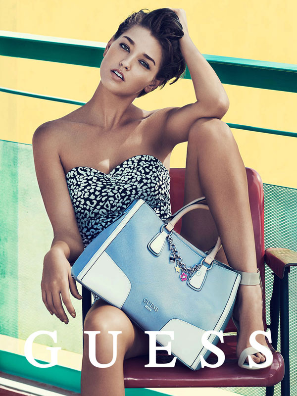 guess spring accessories 2014 pulmanns3 Megan Williams + Heather Depries Model for Guess Accessories Spring 14 Ads by Pulmanns