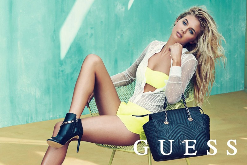 guess spring accessories 2014 pulmanns7 800x533 Megan Williams + Heather Depries Model for Guess Accessories Spring 14 Ads by Pulmanns