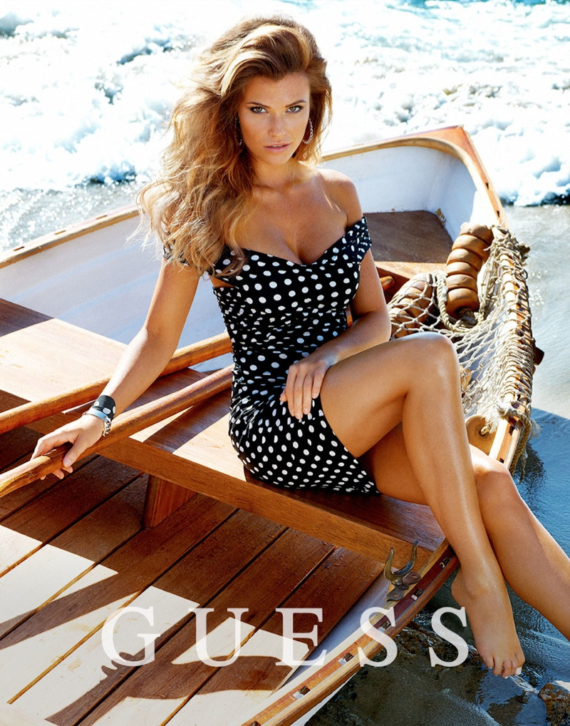guess spring summer 2014 campaign101 Samantha Hoopes, Danielle Knudson + Olivia Greenfield Star in Guess Spring/Summer 2014 Campaign