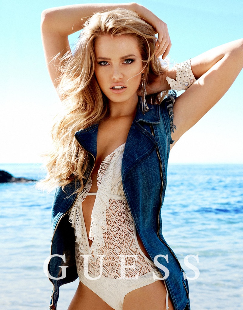 guess spring summer 2014 campaign51 Samantha Hoopes, Danielle Knudson + Olivia Greenfield Star in Guess Spring/Summer 2014 Campaign