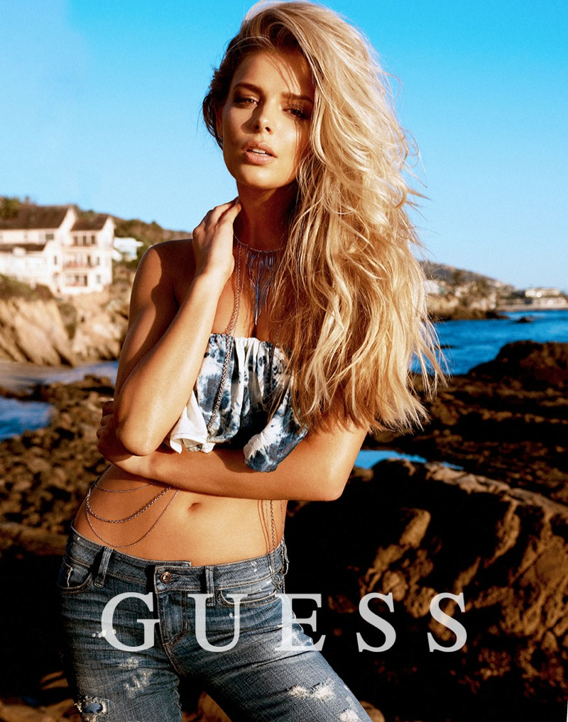 guess spring summer 2014 campaign81 Samantha Hoopes, Danielle Knudson + Olivia Greenfield Star in Guess Spring/Summer 2014 Campaign