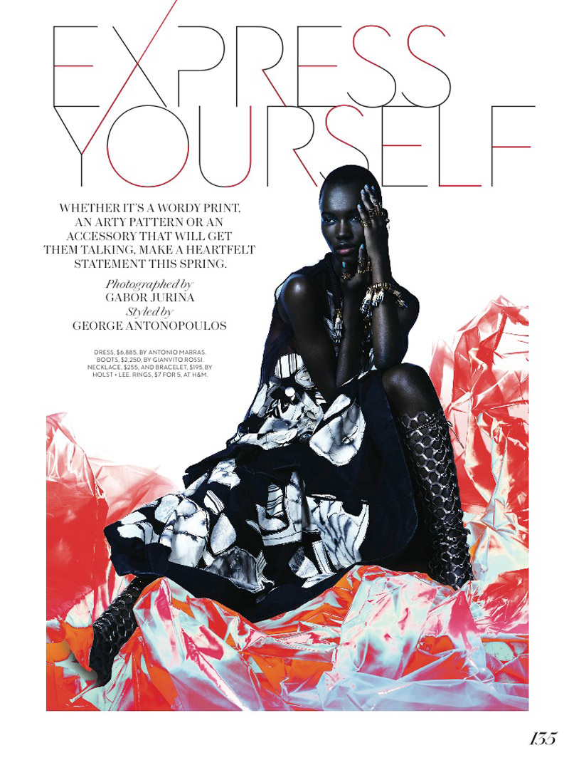 herieth paul fashion shoot2 Express Yourself: Herieth Paul Wears Bold Prints for Fashion Shoot