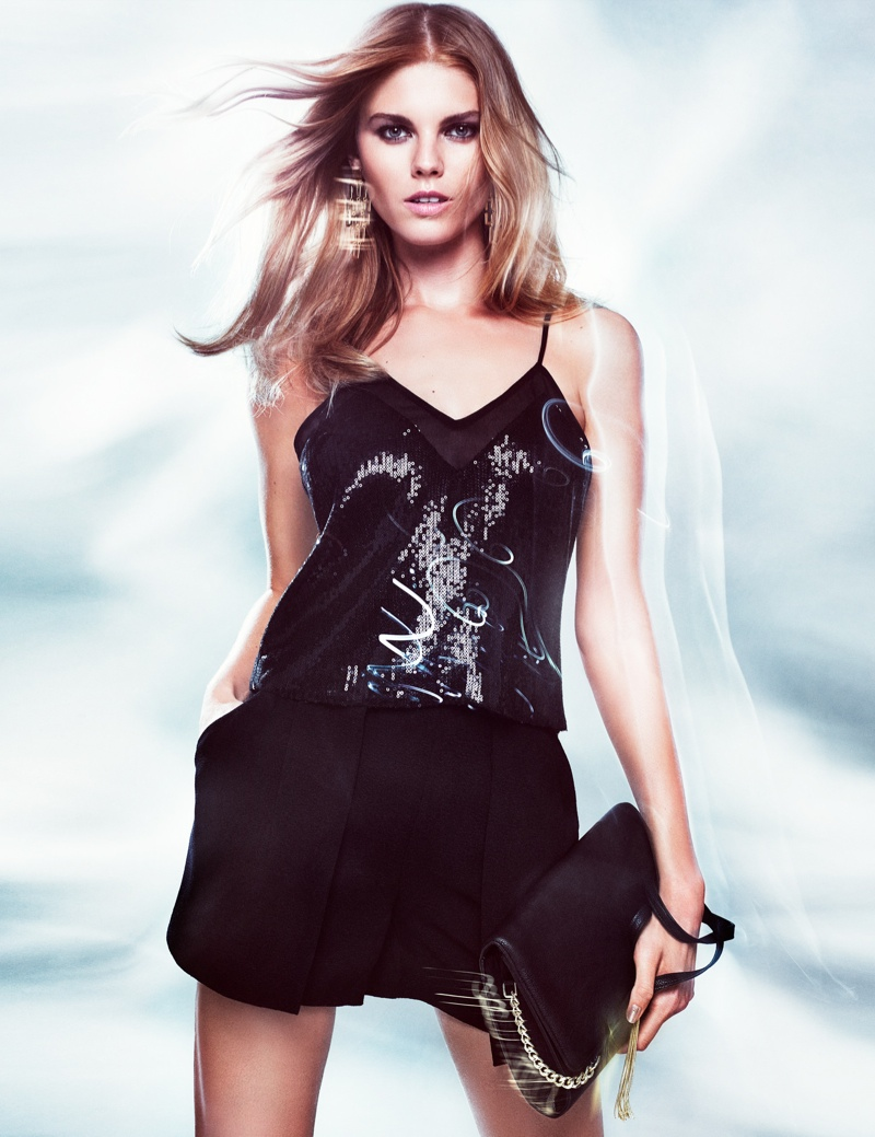 hm night lookbook1 Maryna Linchuk Models in H&M By Night Style Update