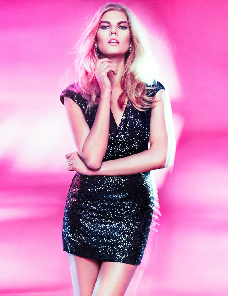 hm night lookbook2 Maryna Linchuk Models in H&M By Night Style Update
