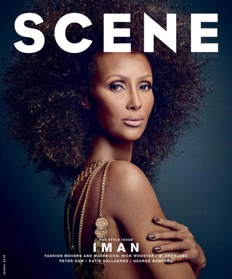 iman now8 800x960 Iman Steals the Spotlight in SCENE Shoot by Douglas Friedman