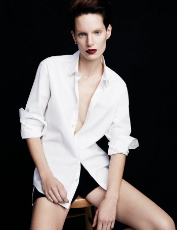 Iris Strubegger Models Boyish Attire for Vogue Thailand by Simon Cave