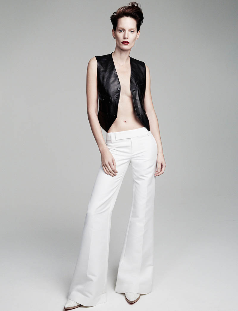 iris strubegger photos5 Iris Strubegger Models Boyish Attire for Vogue Thailand by Simon Cave