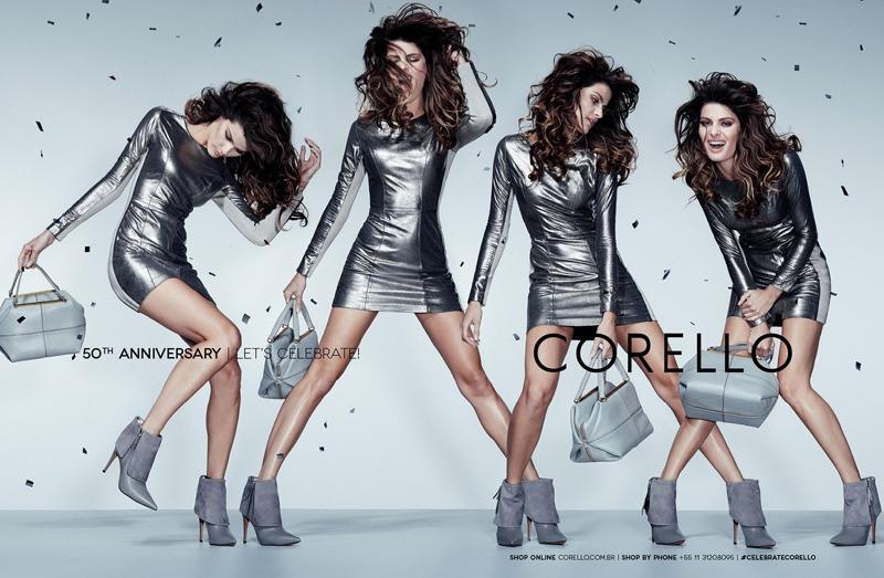 isabeli fontana corello fall 2014 1 Isabeli Fontana Gets Festive in Corellos 50th Anniversary Campaign