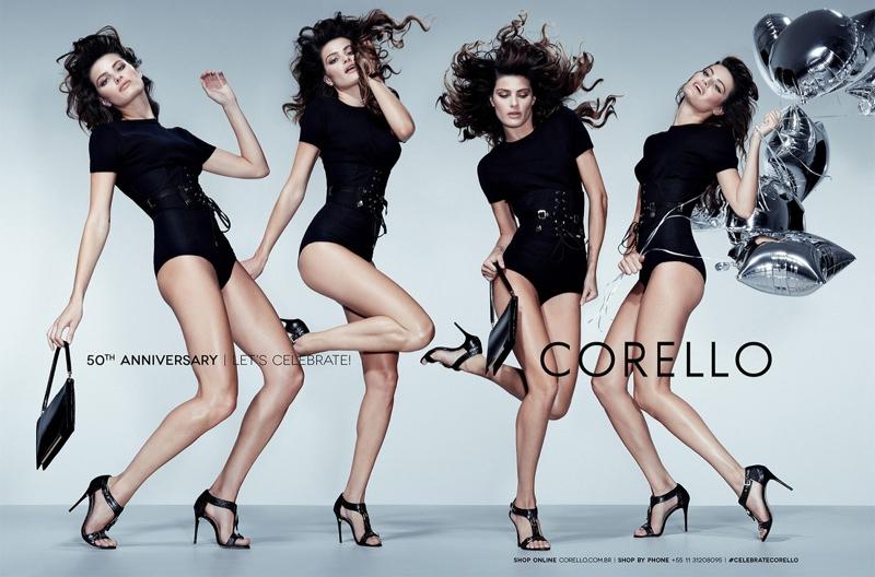 isabeli fontana corello fall 2014 4 Isabeli Fontana Gets Festive in Corellos 50th Anniversary Campaign