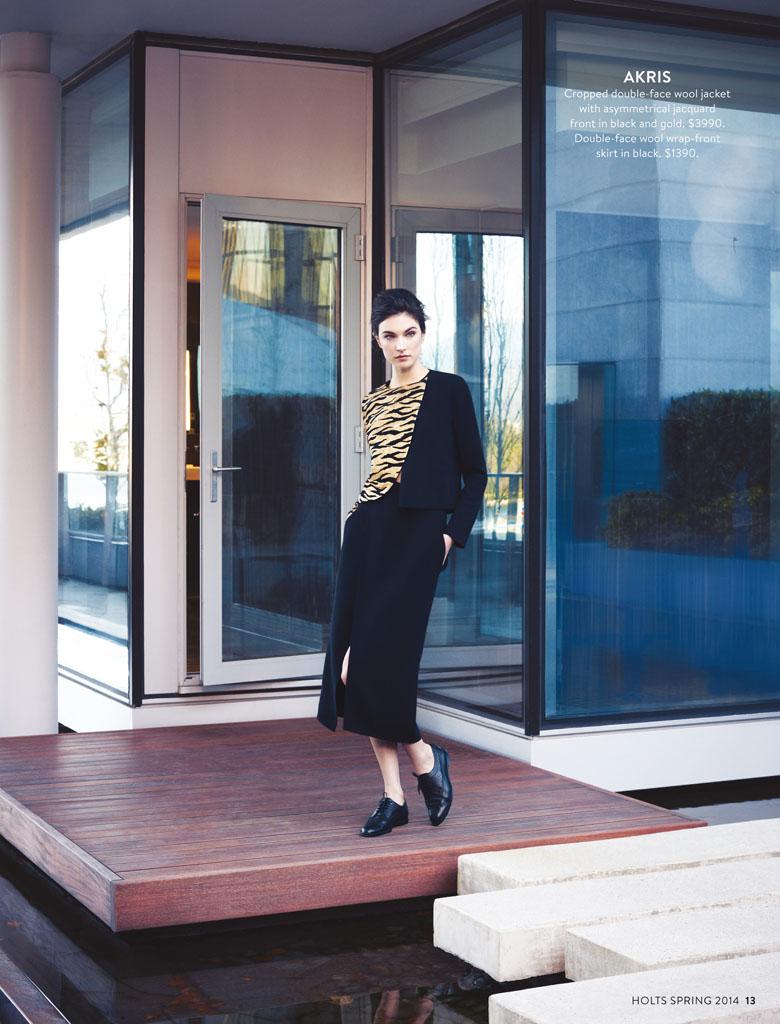 New Classics: Jacquelyn Jablonski Poses for Holt Renfrew by Max Abadian
