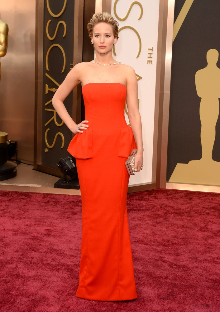 jennifer lawrence dior 2014 Oscars Red Carpet Looks