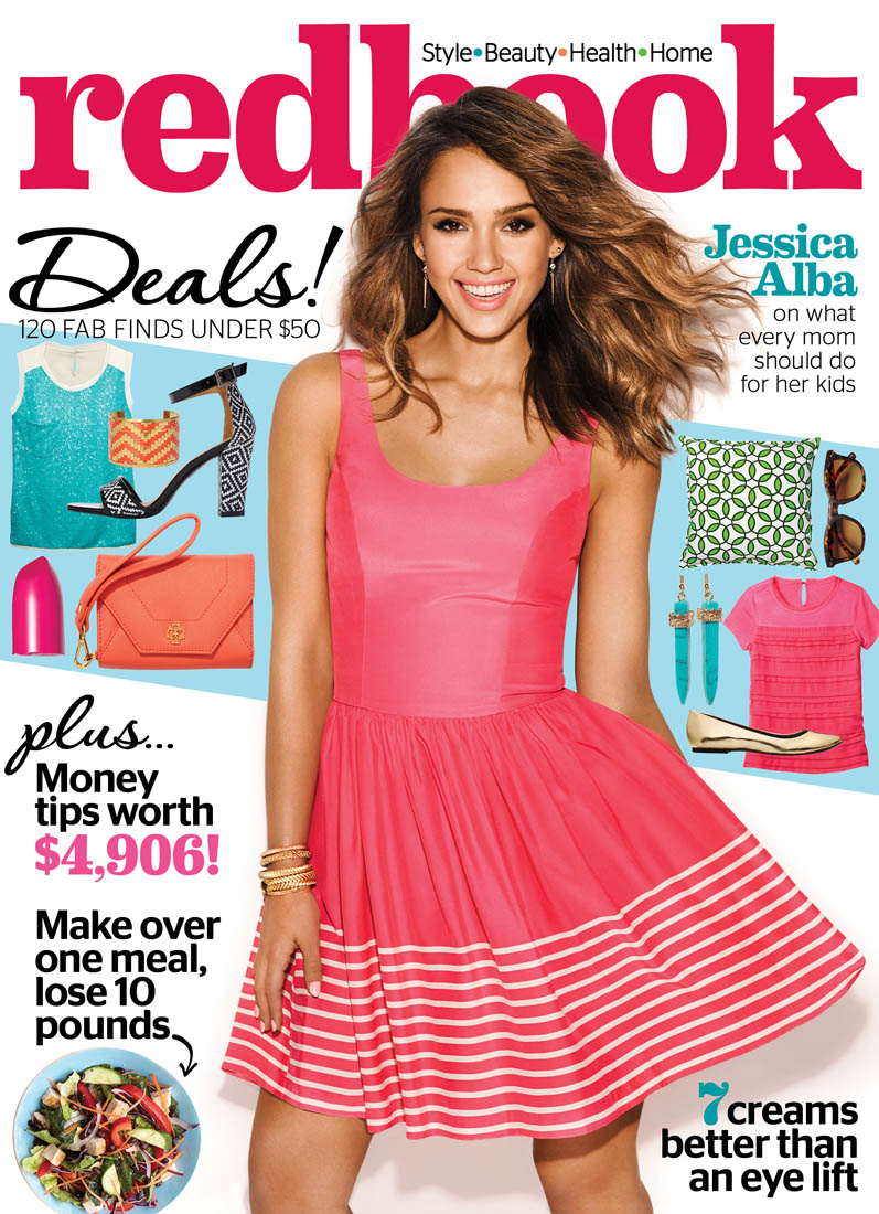 jessica alba redbook1 Jessica Alba Covers Redbook Magazine, Reveals Love for Craigslist