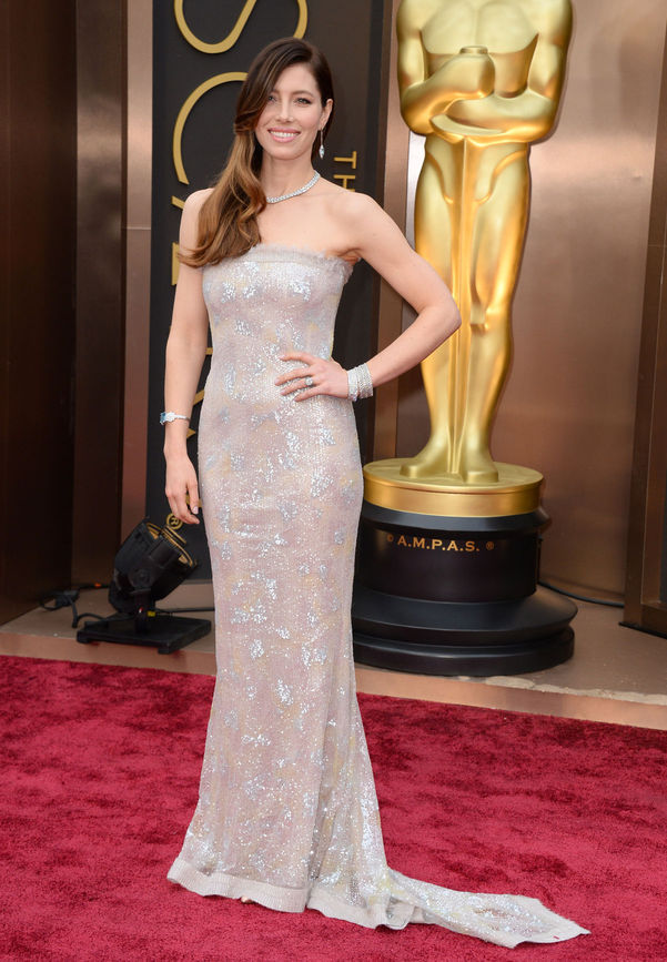 jessica biel chanel couture oscars 2014 Oscars Red Carpet Looks