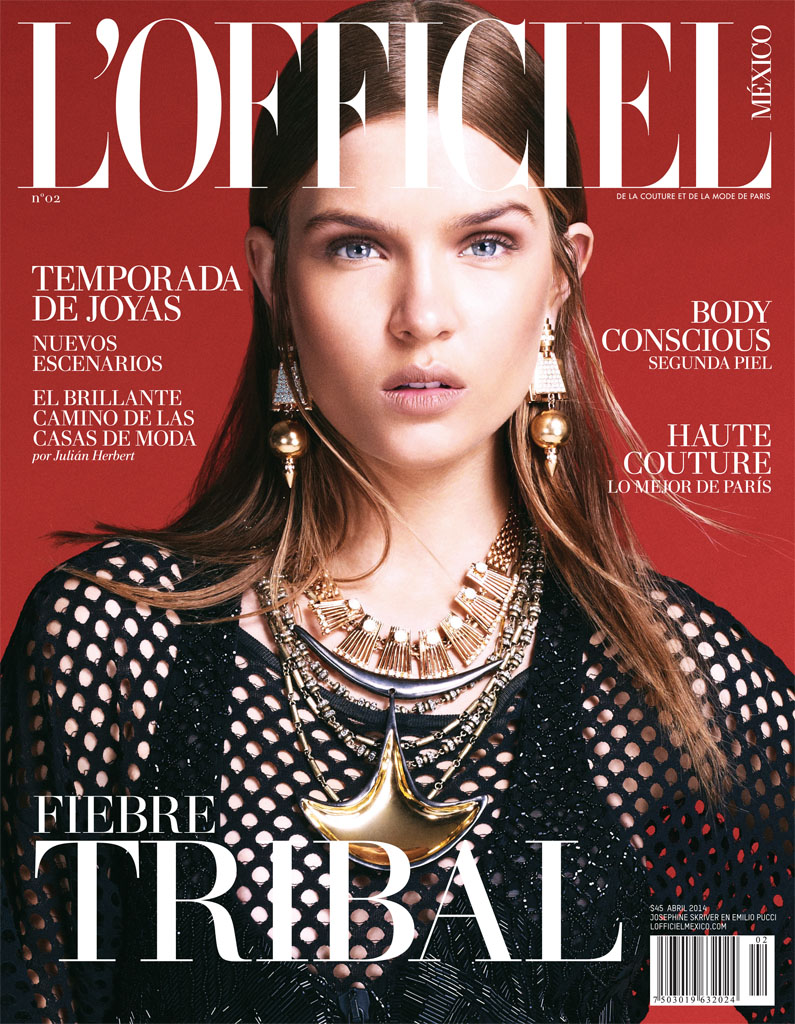josephine skriver photo shoot12 Josephine Skriver Gets Tribal for LOfficiel Mexico by Andrew Yee