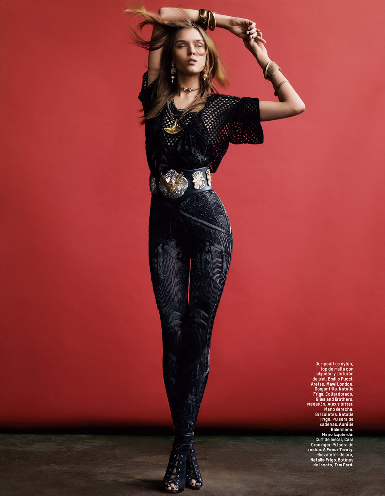 josephine skriver photo shoot2 Josephine Skriver Gets Tribal for LOfficiel Mexico by Andrew Yee
