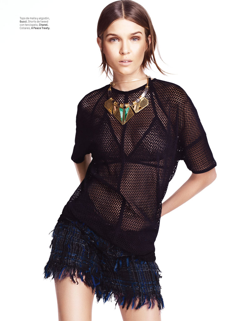 josephine skriver photo shoot3 Josephine Skriver Gets Tribal for LOfficiel Mexico by Andrew Yee