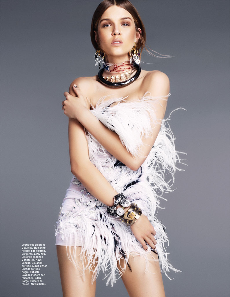 josephine skriver photo shoot8 Josephine Skriver Gets Tribal for LOfficiel Mexico by Andrew Yee