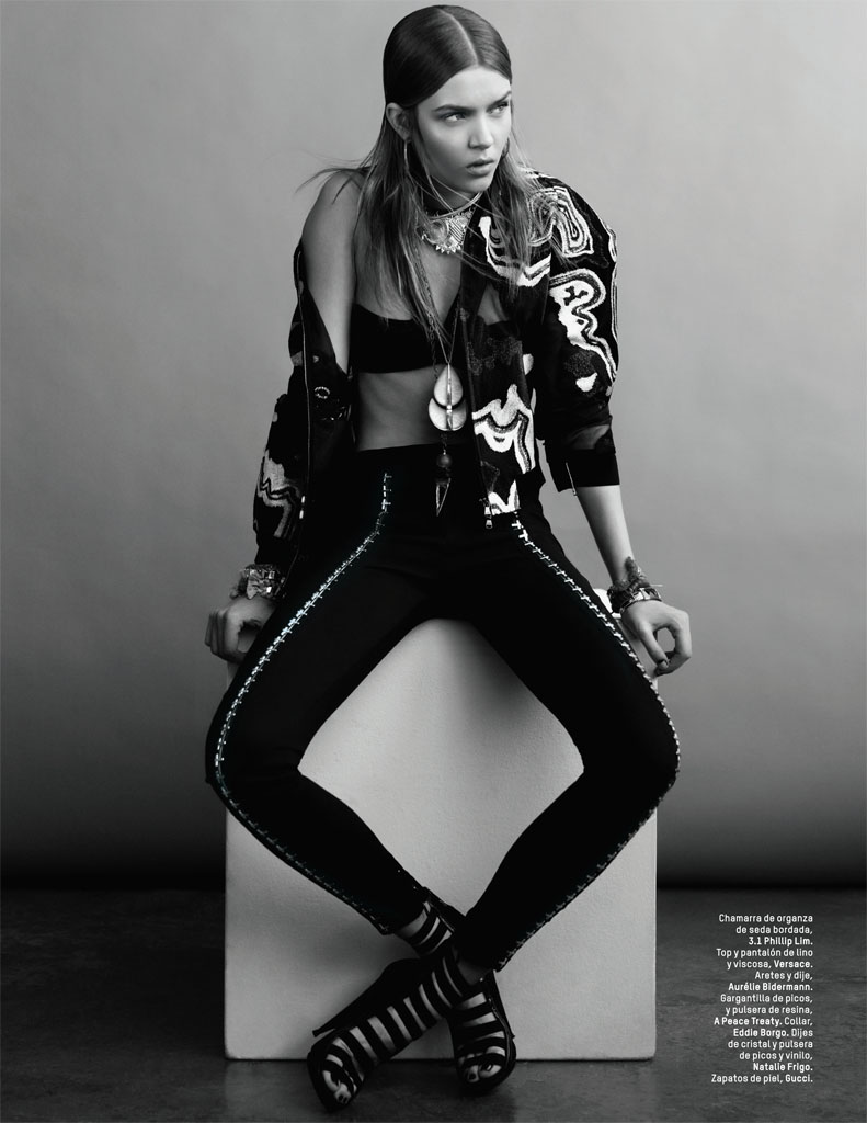 josephine skriver photo shoot9 Josephine Skriver Gets Tribal for LOfficiel Mexico by Andrew Yee