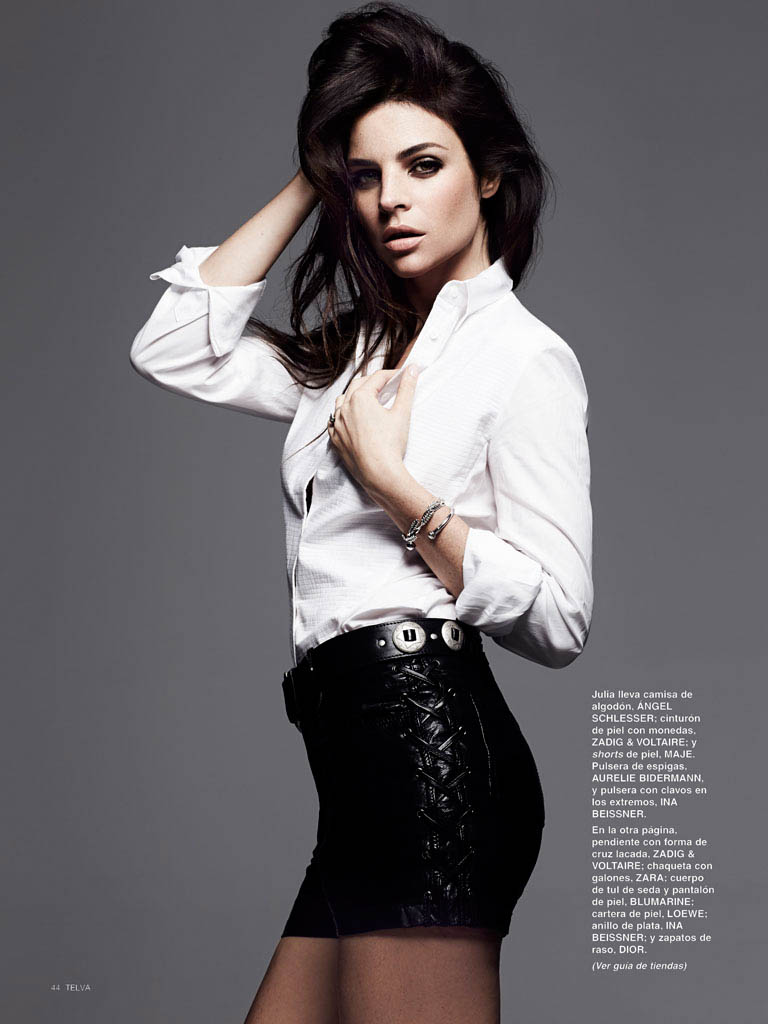julia restoin roitfeld photos2 Back to Black: Julia Restoin Roitfeld Stars in Telva Shoot by Max Abadian