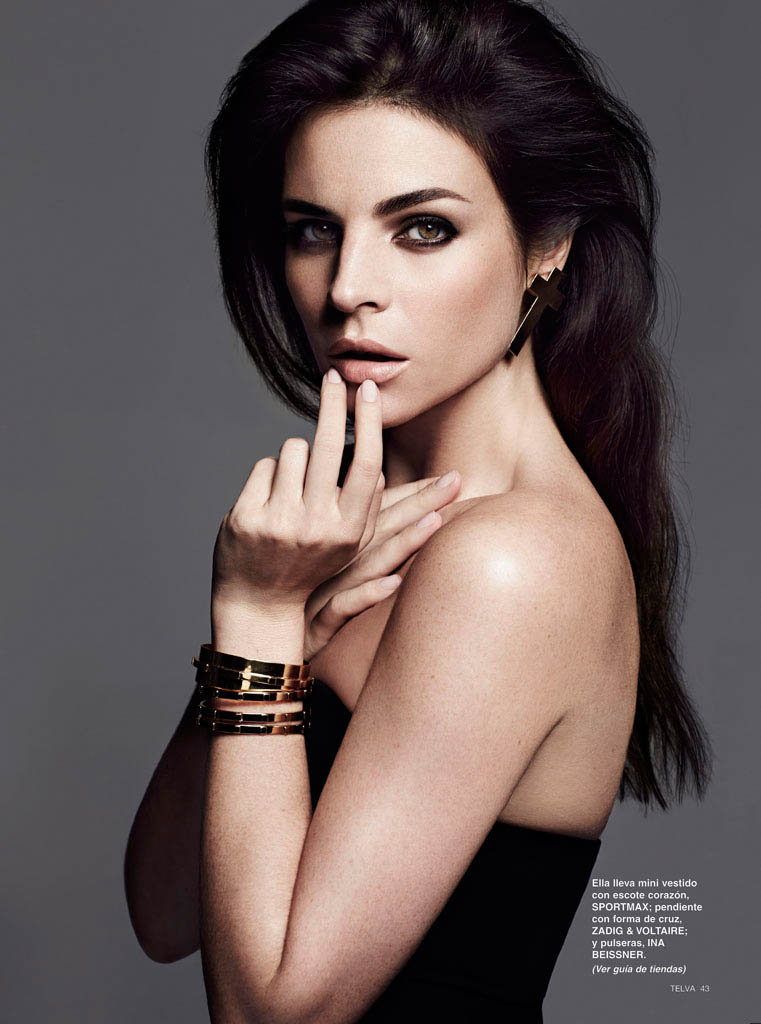 julia restoin roitfeld photos4 Back to Black: Julia Restoin Roitfeld Stars in Telva Shoot by Max Abadian
