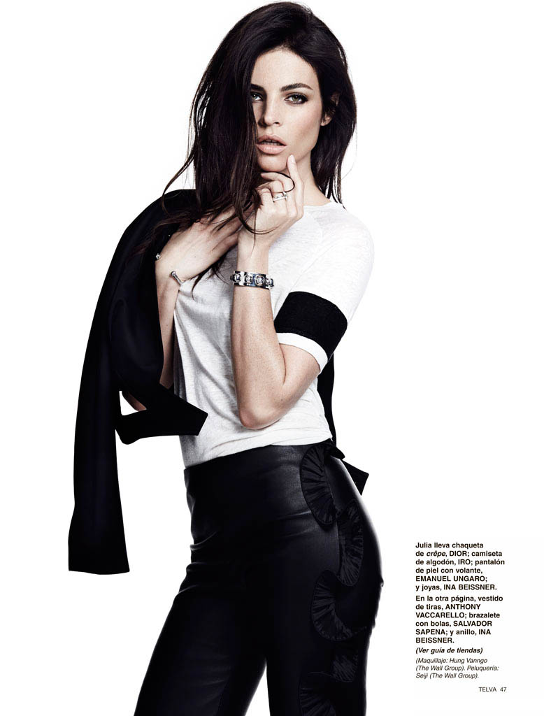 julia restoin roitfeld photos5 Back to Black: Julia Restoin Roitfeld Stars in Telva Shoot by Max Abadian