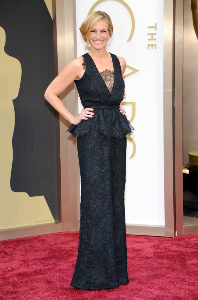 julia roberts givenchy oscars 2014 Oscars Red Carpet Looks