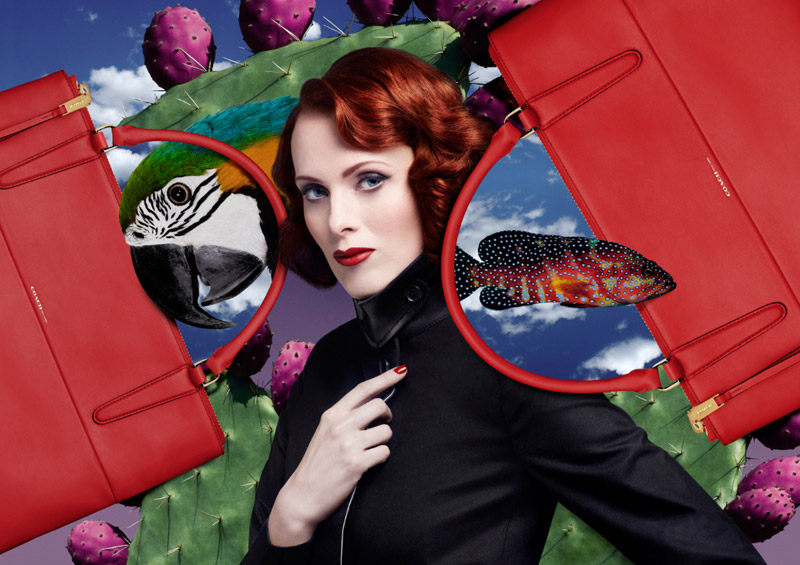 karen elson t galleria2 Karen Elson Gets Surreal in T Galleria 2014 Ads by Mat Maitland