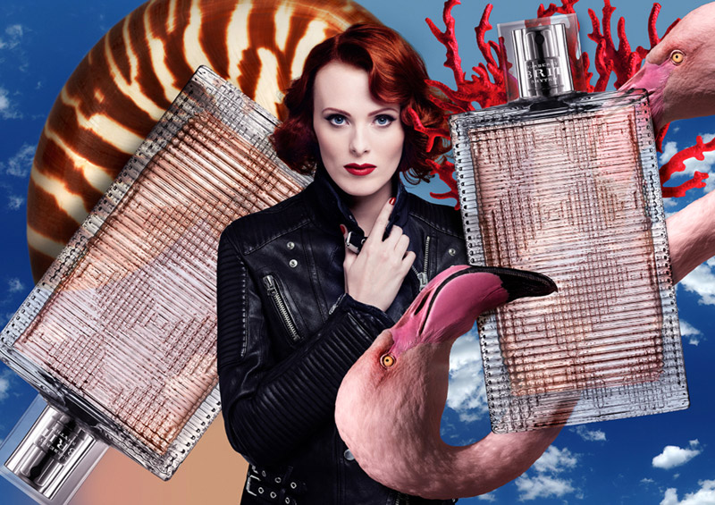 karen elson t galleria3 Karen Elson Gets Surreal in T Galleria 2014 Ads by Mat Maitland