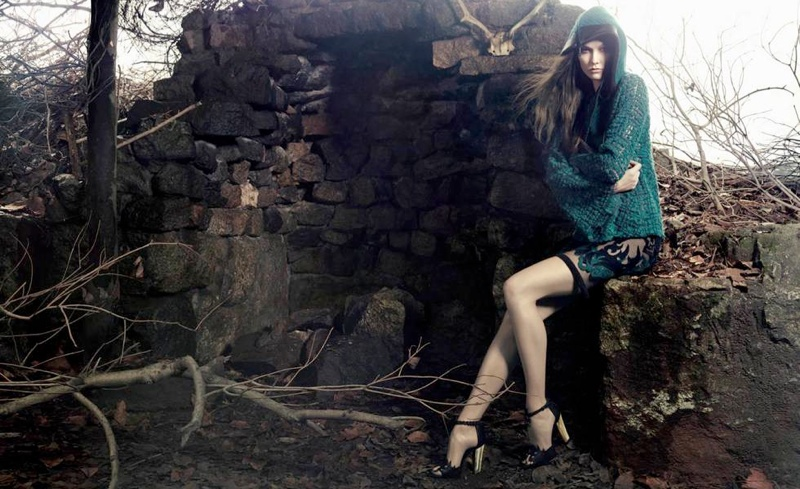 karlie kloss animale winter 2014 campaign1 Preview | Karlie Kloss Stars in Animales Celtic Inspired Winter 14 Ads