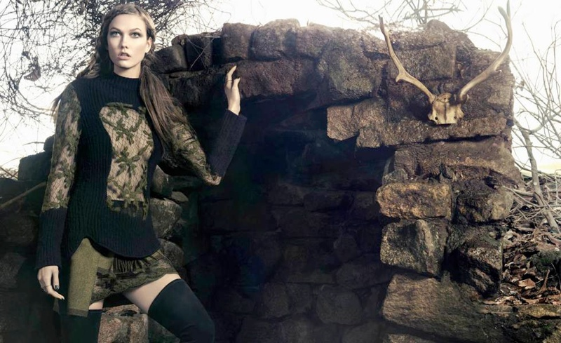 karlie kloss animale winter 2014 campaign2 Preview | Karlie Kloss Stars in Animales Celtic Inspired Winter 14 Ads