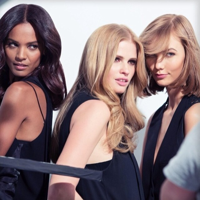 L'OREAL TRIO: New spokesperson Karlie Kloss alongside Lara Stone and Liya Kebede / Courtesy of Instagram