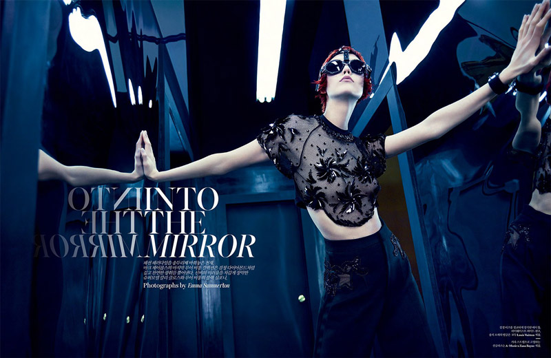 karlie kloss louis vuitton1 update Into the Mirror: Karlie Kloss Reflects for W Korea Shoot by Emma Summerton