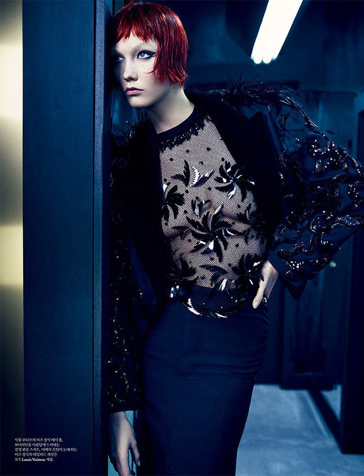 karlie kloss louis vuitton2 update Into the Mirror: Karlie Kloss Reflects for W Korea Shoot by Emma Summerton