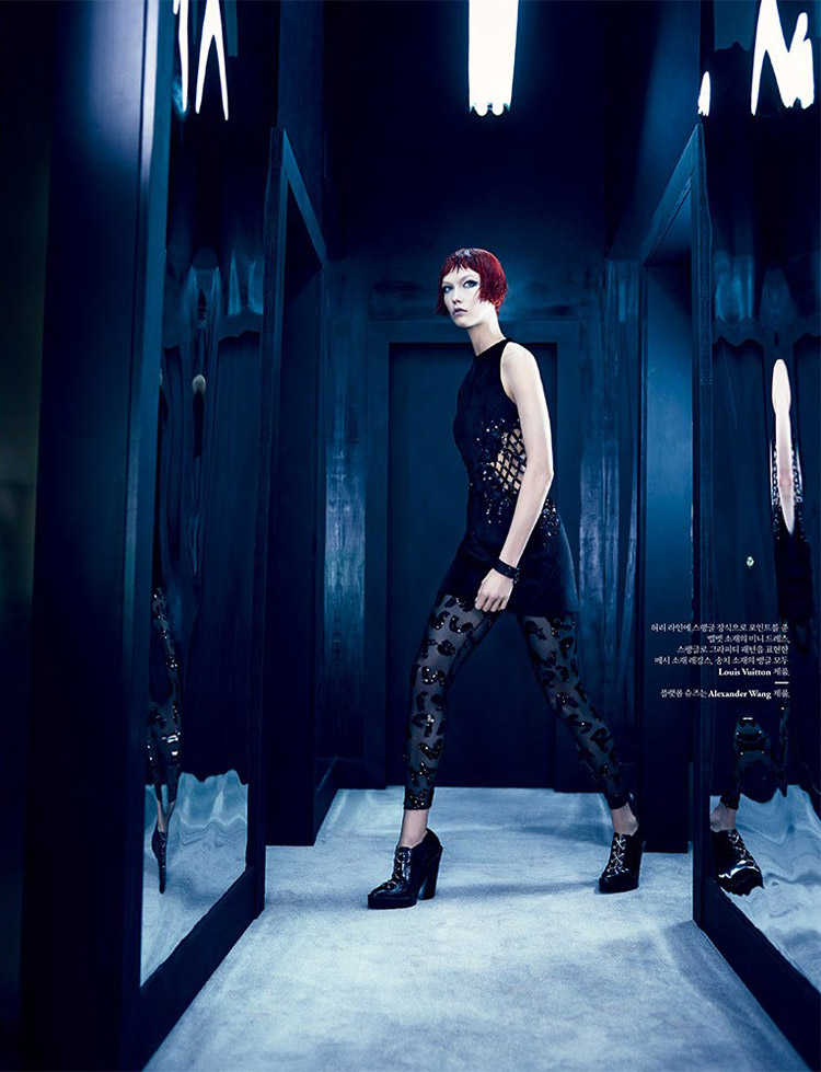karlie kloss louis vuitton6 Into the Mirror: Karlie Kloss Reflects for W Korea Shoot by Emma Summerton