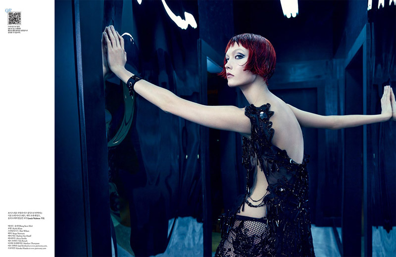 karlie kloss louis vuitton7 Into the Mirror: Karlie Kloss Reflects for W Korea Shoot by Emma Summerton