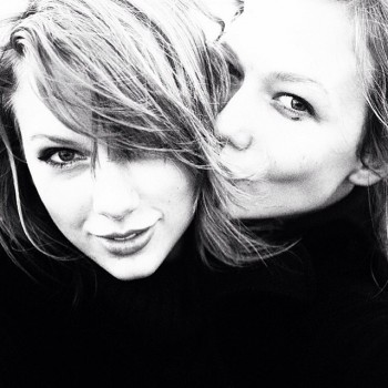 Taylor Swift & Karlie Kloss in March 2014. Photo: Instagram