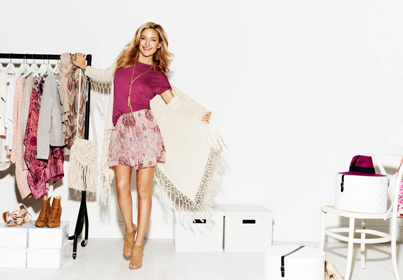 kate hudson lindex spring 2014 1 Kate Hudson is All Smiles for Lindex Spring 2014 Ads