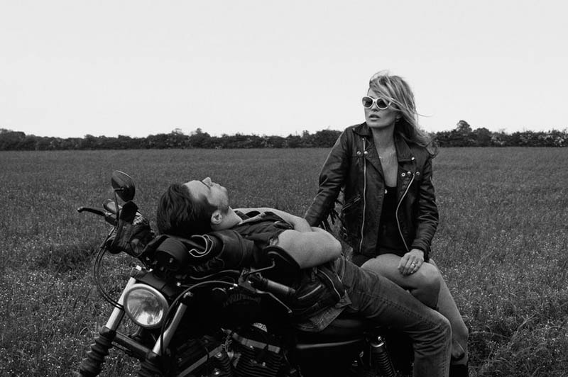 kate moss outdoor shoot9 Kate Moss Plays Biker Chick in Ponystep Feature by Lasse Fløde
